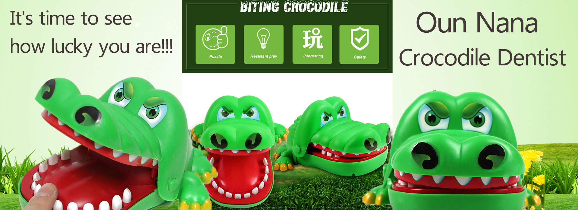 Oun Nana Crocodile Dentist, Crocodile Biting Finger Game Funny Toy Gift Funny Toys For Kids, 1 To 4 Players, Ages 4 And Up