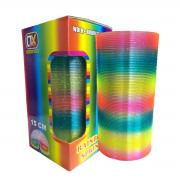 Oun Nana Big Slinky Toy Plastic Magic Rainbow Springs Coil Boxed Long Slinkies Toys Bulk Clorful Fun 3x6 inch (with a Mini Slinky) Color Spring Glitter
